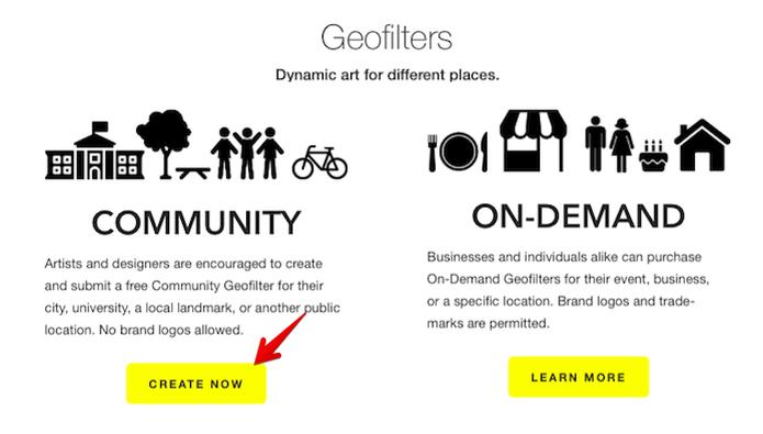Começando a criar um geofiltro do tipo comunidade (Foto: Geofiltros (Foto: Divulgação/Snapchat) Snapchat permite que usuários criem geofiltros para qualquer lugar do mundo (Foto: Divulgação/Snapchat))