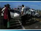 Acidente entre van e carro mata sete pessoas em Jaguaribara, no Ceará