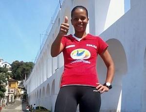 Grazielle Pedroso corredora Uberaba Meia Maratona Internacional Rio de Janeiro 2014 (Foto: Grazielle Pedroso/ Arquivo Pessoal)