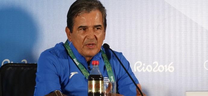 Jorge Luís Pinto, técnico da seleção de Honduras (Foto: Fernando Martins Y Miguel)