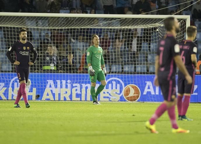 Ter Stegen; Celta de Vigo x Barcelona (Foto: AP)