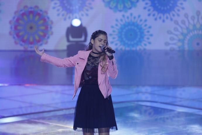 Danise Salvi cantou 'A Sua' nos Shows ao Vivo (Foto: Ellen Soares/Gshow)