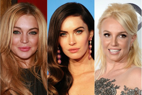 Lindsay Lohan, Megan Fox e Britney Spears (Foto: Getty Images)