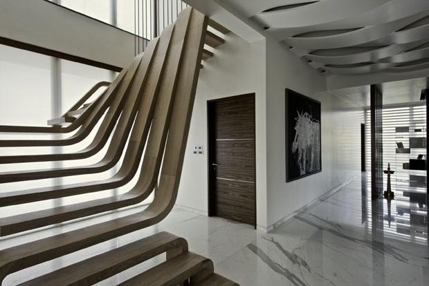 Escada escultural (Foto: Bharath Ramamrutham / Divulgação)