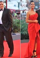Sandra Bullock e George Clooney dão show de estilo em Veneza