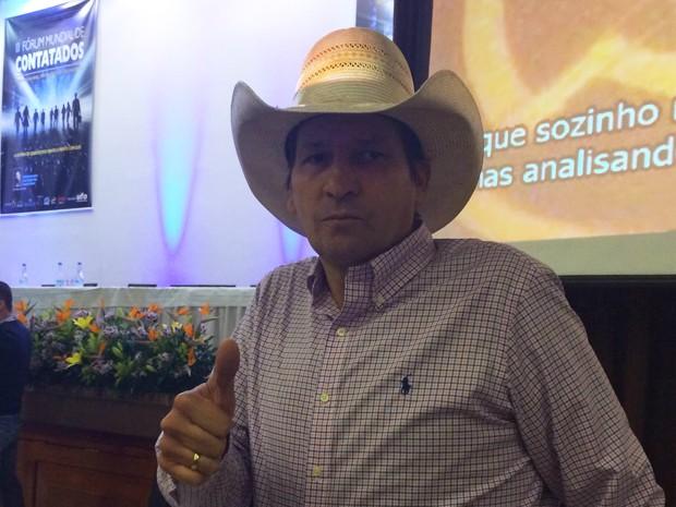 Asa Branca participou de evento de ufologia em Porto Alegre (Foto: Maria Polo/G1)