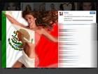 Thalia publica foto em que aparece enrolada na bandeira do México