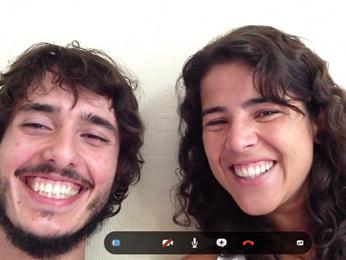 O casal em entrevista ao G1 pela internet (Foto: Skype/Reprodução)