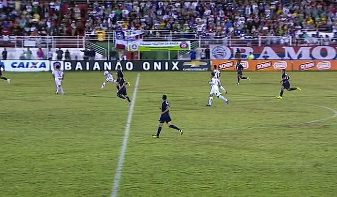 Bahia e Serrano se enfrentam pela semifinal do Campeonato Baiano (Foto: Reprodução/TV Bahia)