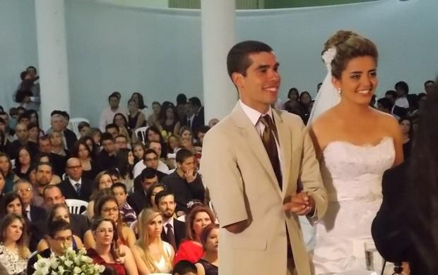 O nadador Daniel Dias durante seu casamento com Raquel Andrade (Foto: Filipe Rodrigues/ Globoesporte.com)