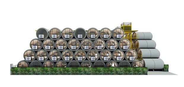 china-tube-house (Foto: Reprodução)