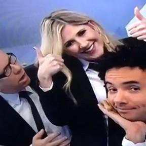 """Marcelo Tas, Dani Calabresa e Marco Luque na bancada do """"CQC"""" (Foto: Instagram/ Reprodução)"""