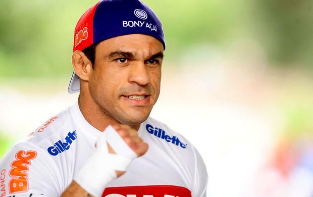 Vitor Belfort no treino do UFC em São Paulo (Foto: Marcos Ribolli / Globoesporte.com)