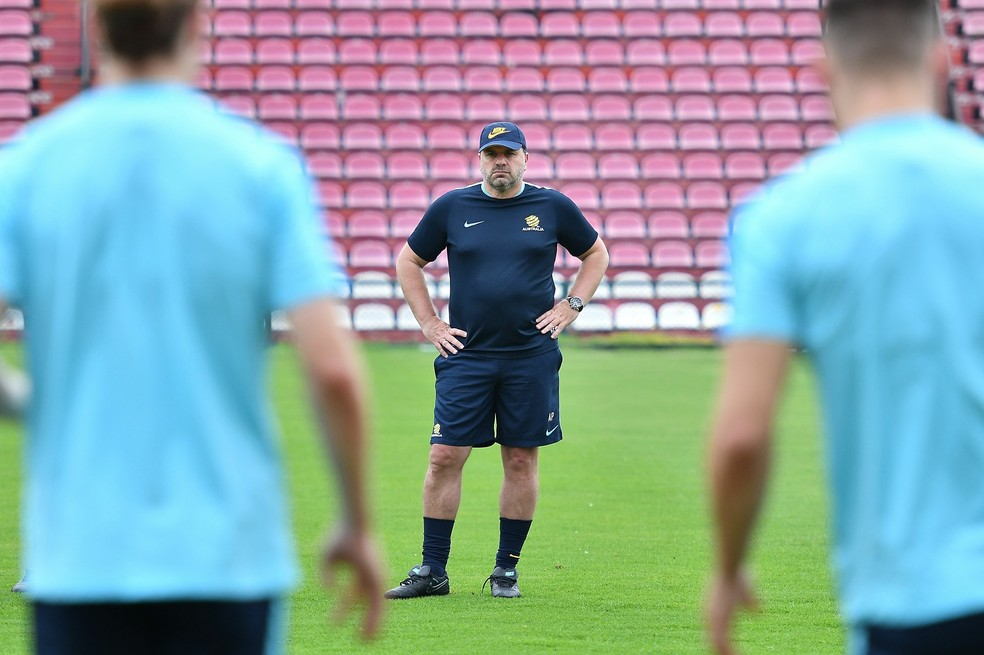 A Austrália, 48ª no ranking da Fifa, tem como treinador Ange Postecoglou (Foto: Getty Images)