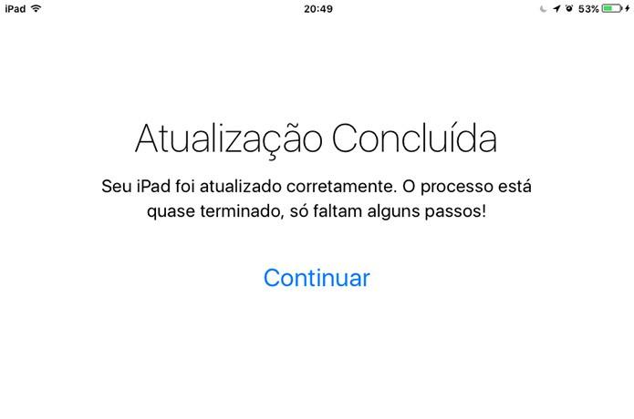 iPad ou iPhone com iOS 9.3 mostrará essa mensagem ao passar por ativação (Foto: Reprodução/Elson de Souza)