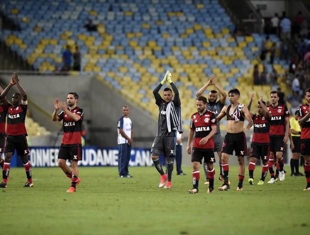 Flamengo aplausos agradecimento Fluminense x Fla Maracanã Sul-Americana