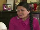 Mulher teve câncer e se veste de 'cangaceira' para alertar sobre doença