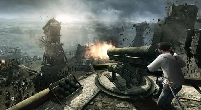Assassins Creed: Brotherhood: Ezio Auditore é atacado de surpresa pelos Borgia (Foto: Divulgação)
