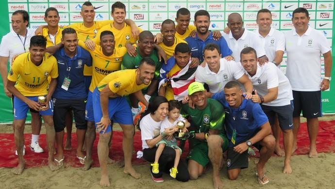 Brasil, Mundialito Beach Soccer em Santos (Foto: Antonio Marcos)