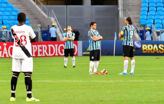 Grêmio e Vasco Protesto (Foto: Dudu Contursi / Futura Press)
