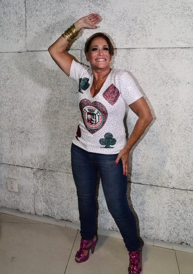 Susana Vieira no ensaio da Grande Rio (Foto: William Oda / AgNews)