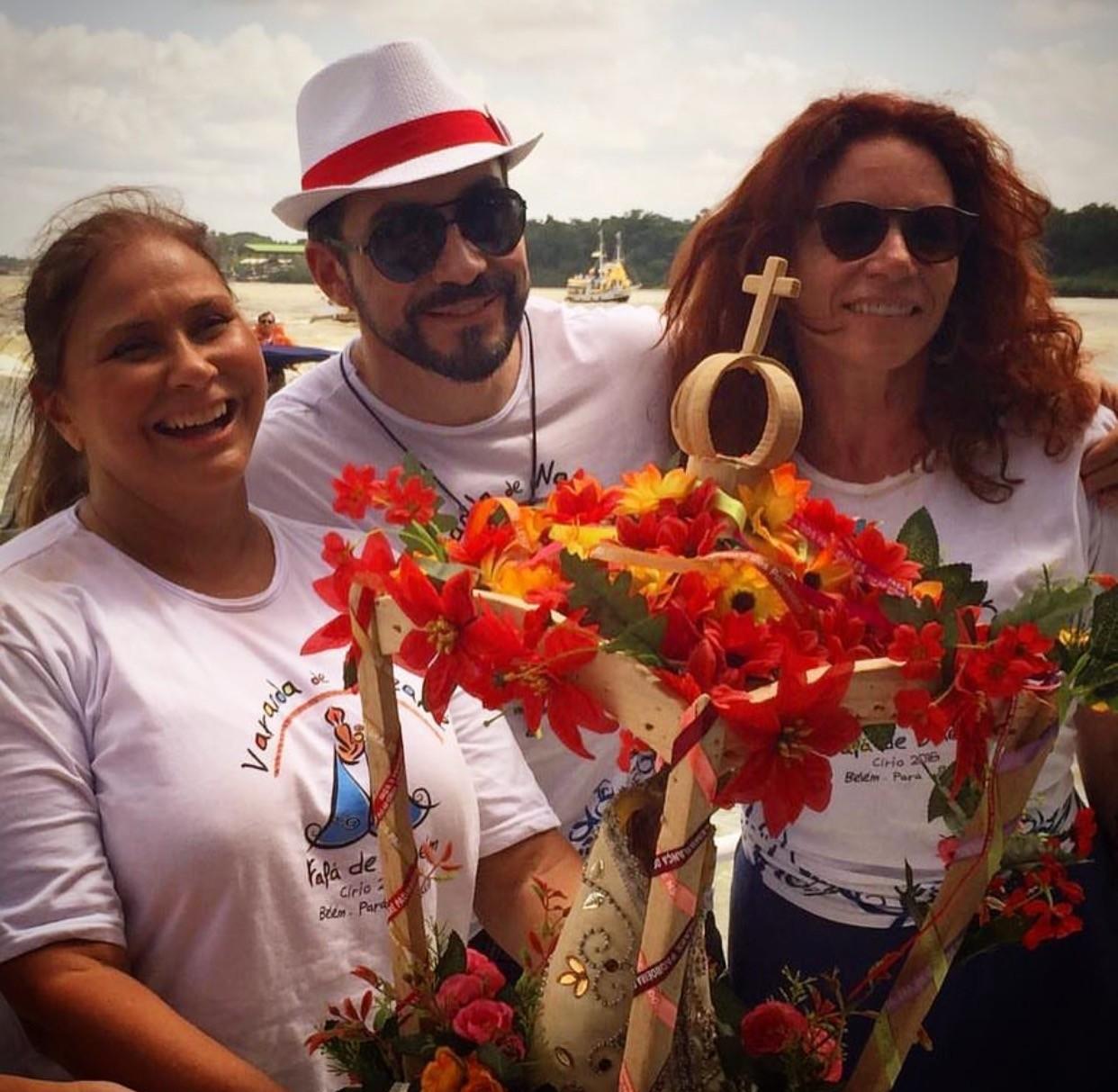 Fafá de Belém, padre Fábio de Melo e Leilane Neubarth (Foto: Reprodução/Instagram)