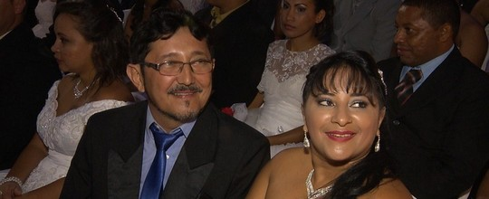Casal que se conheceu no São João  oficializa união (Reprodução/TV Paraíba)