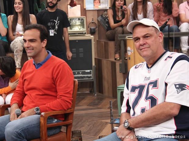 Tadeu e Oscar Schmidt participam do programa Altas Horas (Foto: TV Globo/Altas Horas)