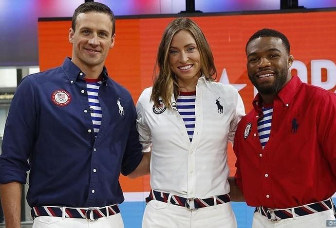 38b98b791cc92 Uniformes dos Estados Unidos para cerimônia de encerramento das Olimpíadas  do Rio 2016 (Foto