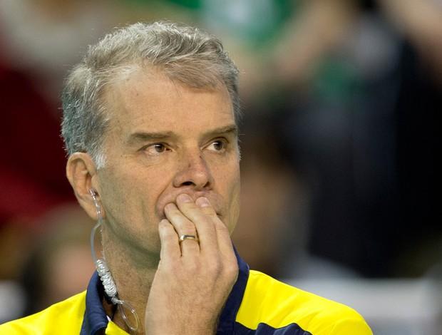 vôlei liga mundial bernardinho brasil e Bulgária (Foto: Agência AP)