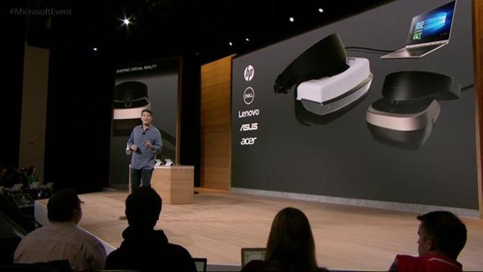 Apoiadas pela Mirosoft, fabricantes de PCs devem lançar novos óculos de realidade virtual, muito mais baratos que os Vive e Rift (Foto: Divulgação/Microsoft)