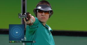 Felipe Wu, tiro esportivo (Foto: Reprodução/SporTV)