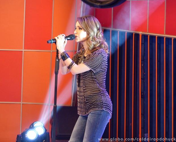 Sandy no palco do Caldeirão (Foto: Caldeirão do Huck/TV Globo)