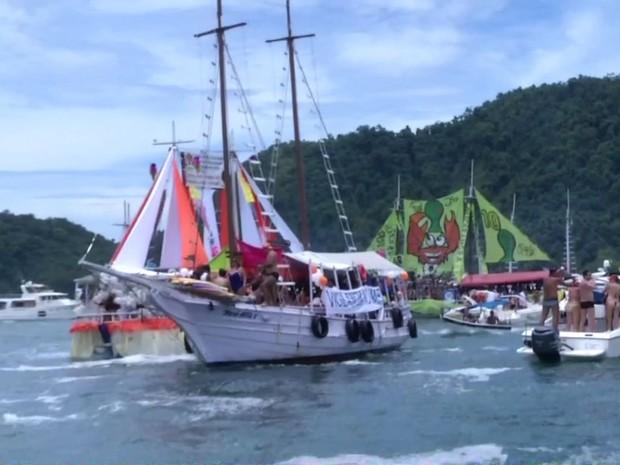 Procissão Marítima de Angra dos Reis, RJ (Foto: Reprodução/TV Rio Sul)