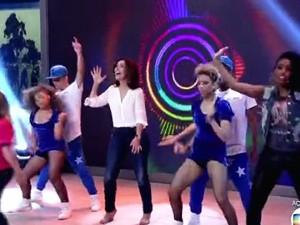 Fátima dança com rapper (Foto: TV Globo)