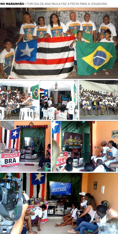 Mosaico Ana Paula torcida Maranhão (Foto: Editoria de Arte)