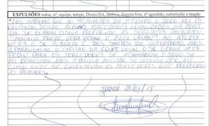 As ofensas foram relatadas na súmula da partida (Foto: Reprodução/FTF)