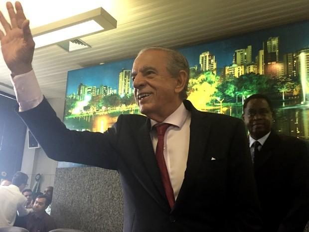 Iris Rezende anuncia mais 7 nomes que vão compor seu secretariado em Goiás (Foto: Danielle Oliveira/G1)