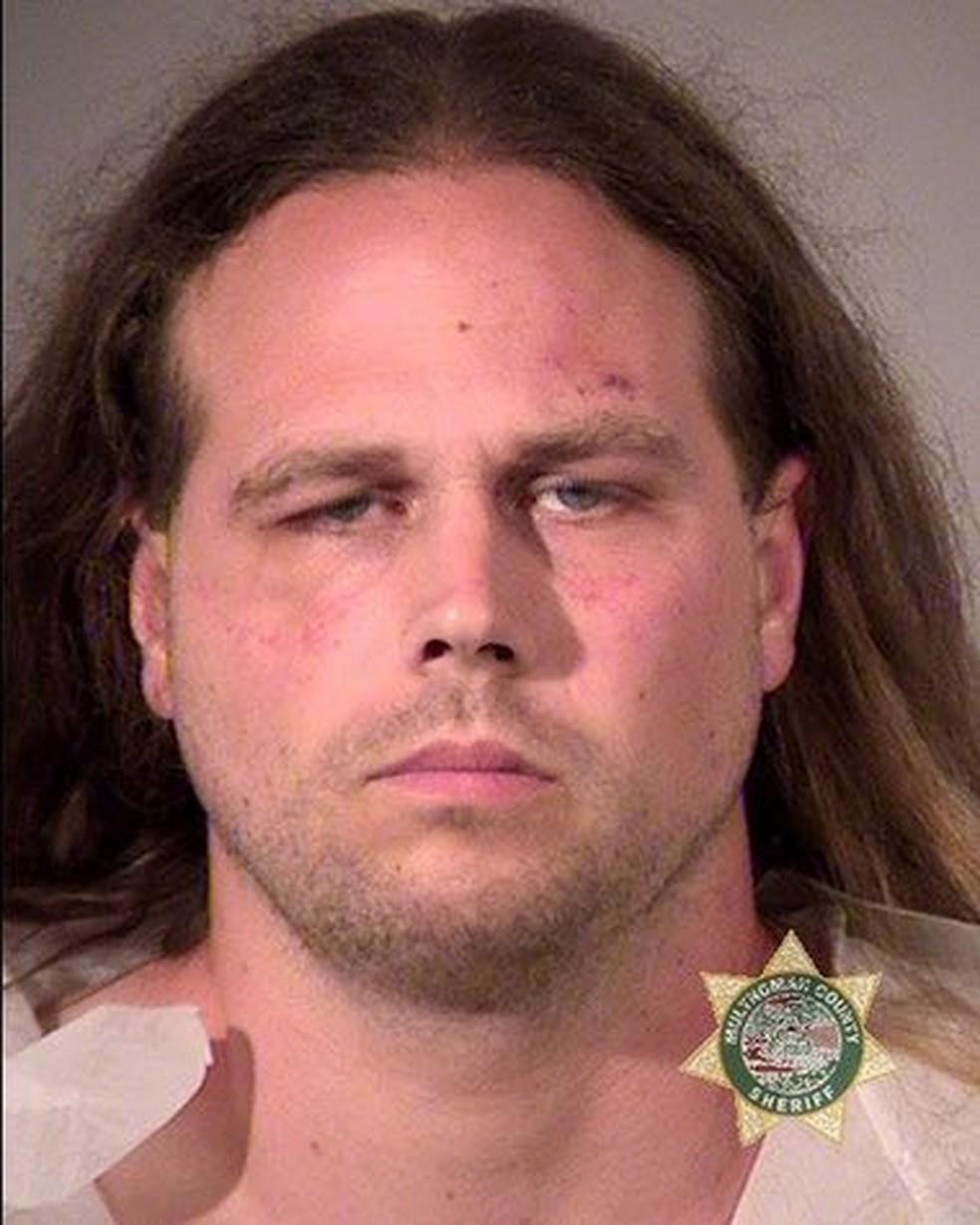 Jeremy Joseph Christian foi detido em Portland (Foto: Reuters)