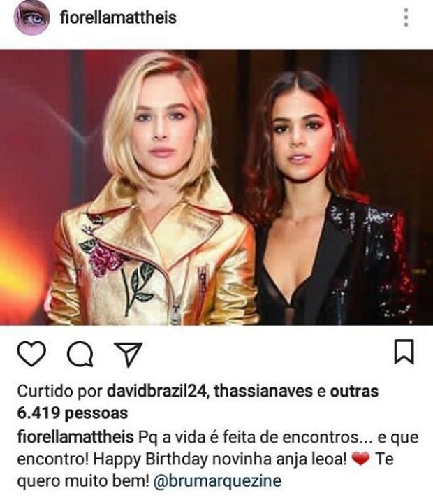 Fiorella Matheis e Bruna Marquezine (Foto: Rafael Godinho/Quem)