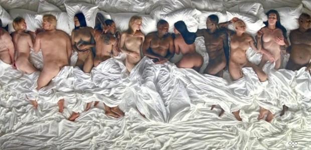 As celebridades nuas de Kanye West em 'Famous' (Foto: Reprodução)