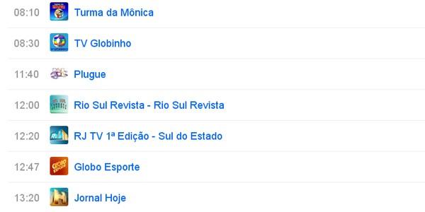 Rede Globo Tvriosul Programacao De Sabado De Manha Da Tv Rio Sul Esta De Cara Nova