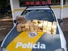 Policiais rodoviários apreendem 40 quilos de maconha em Castilho