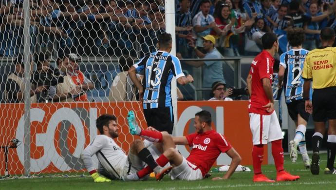 Gre-Nal 407 Grêmio Inter Campeonato Brasileiro Arena Réver gol contra (Foto: Diego Guichard/GloboEsporte.com)