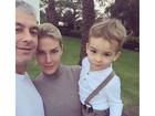 Ana Hickmann posa com o filho e o marido: 'Família é o melhor remédio'