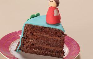 Bolo de chocolate com brigadeiro e ganache