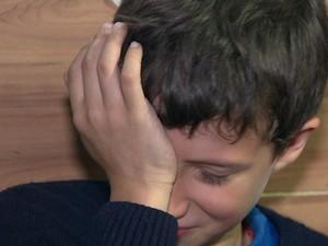 Richarde da Rosa se emociona ao falar dos sonhos (Foto: Reprodução/RBS TV)