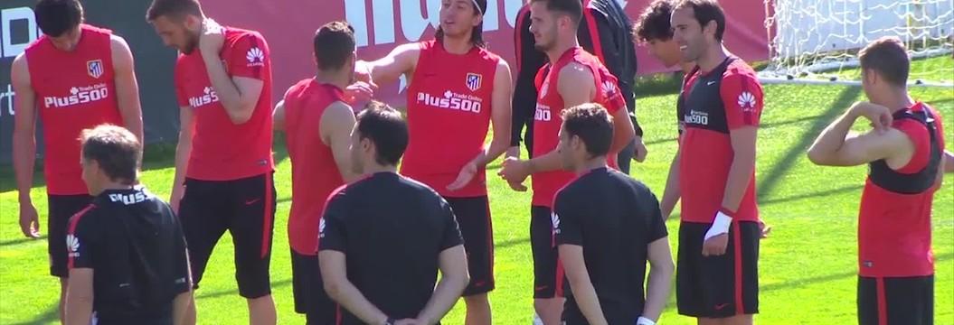 Atlético de Madrid abre as portas do treino uma semana antes da final da Champions