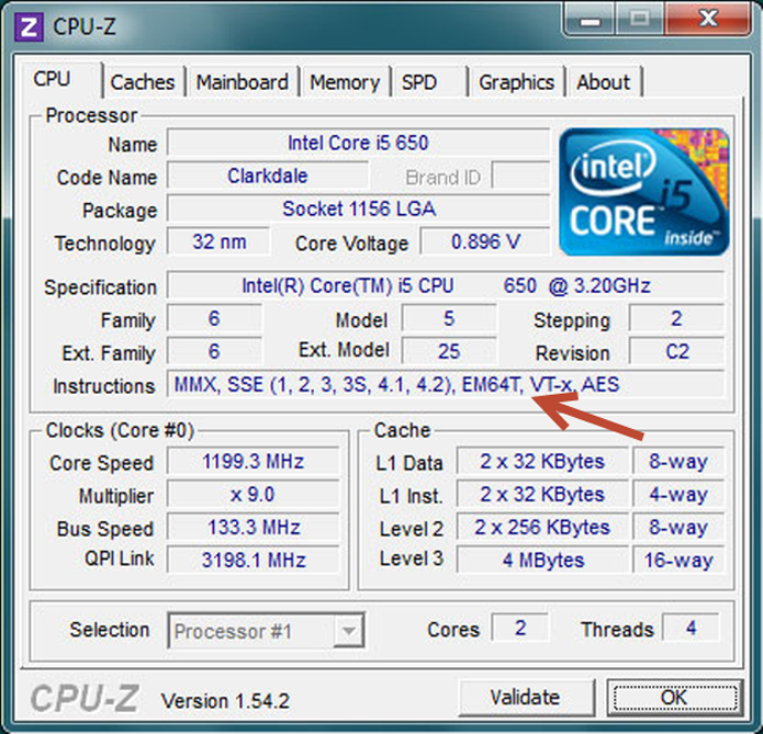 """Identifique na guia """"CPU"""" se o seu processar é de 32 ou de 64 bits (Foto: Reprodução/ CPUID)"""