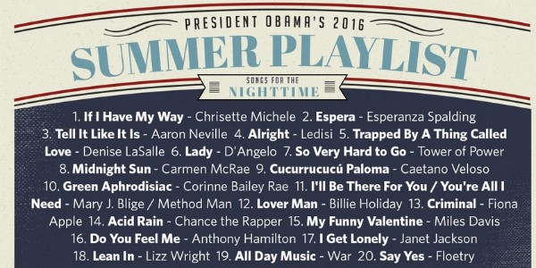 A playlist de Obama para as noites de verão (Foto: Reprodução/Twitter)